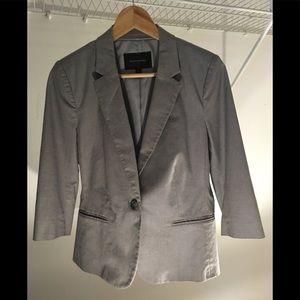 Banana Republic 10P grey cropped sleeve jacket
